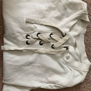 Old Navy lace-up Sweatshirt